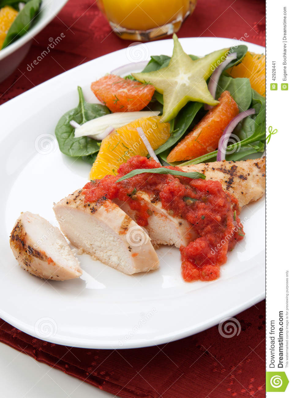 Grilled Chicken With Tomato Tarragon Sauce Recipe — Dishmaps