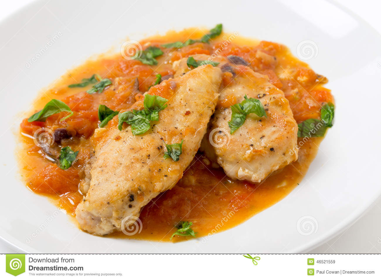 Chicken Breasts with Provencal Sauce