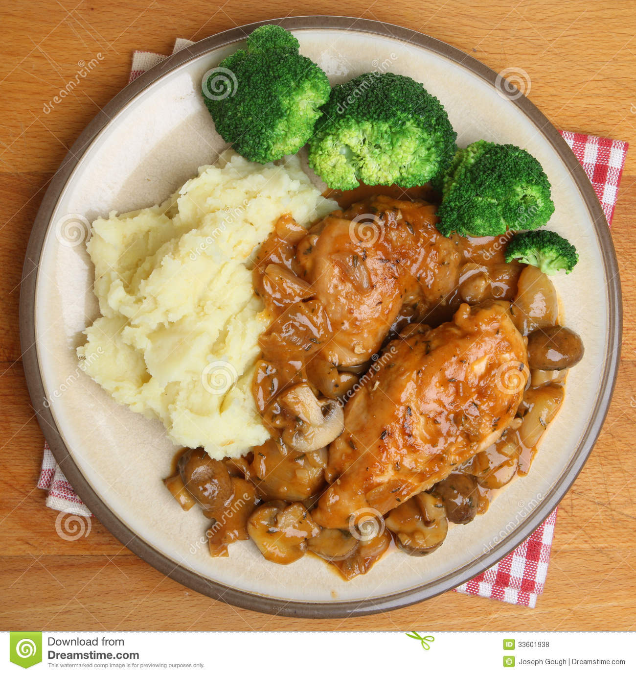 Chicken Chasseur Dinner Royalty Free Stock Photos Image