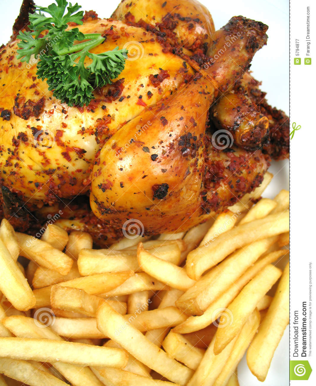 Chicken And Chips Royalty Free Stock Photography - Image: 5794877