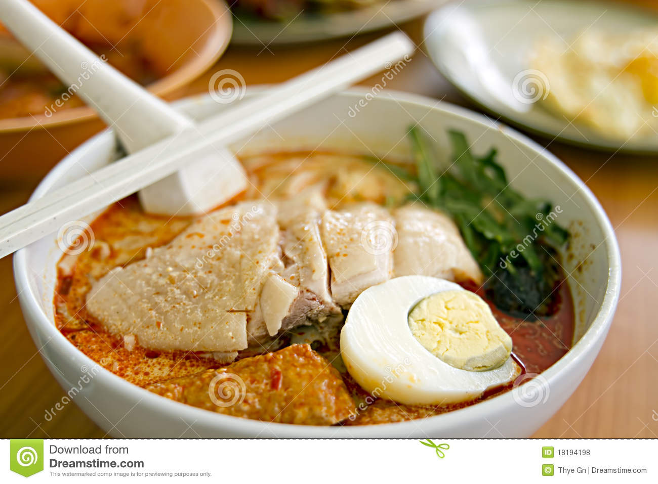 Chicken Curry Noodles Royalty Free Stock PhotosImage18194198