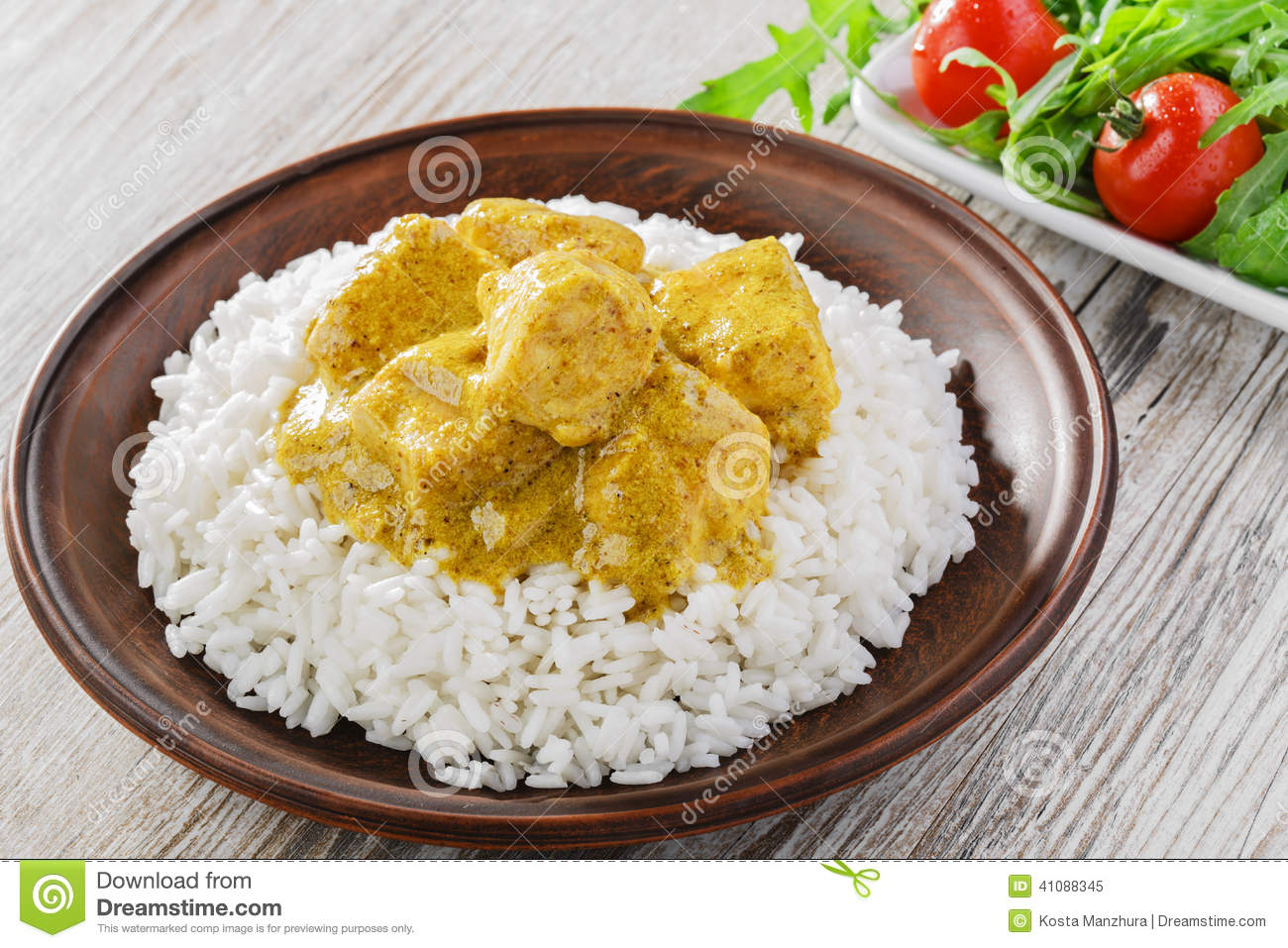 how to make curry with chicken and rice