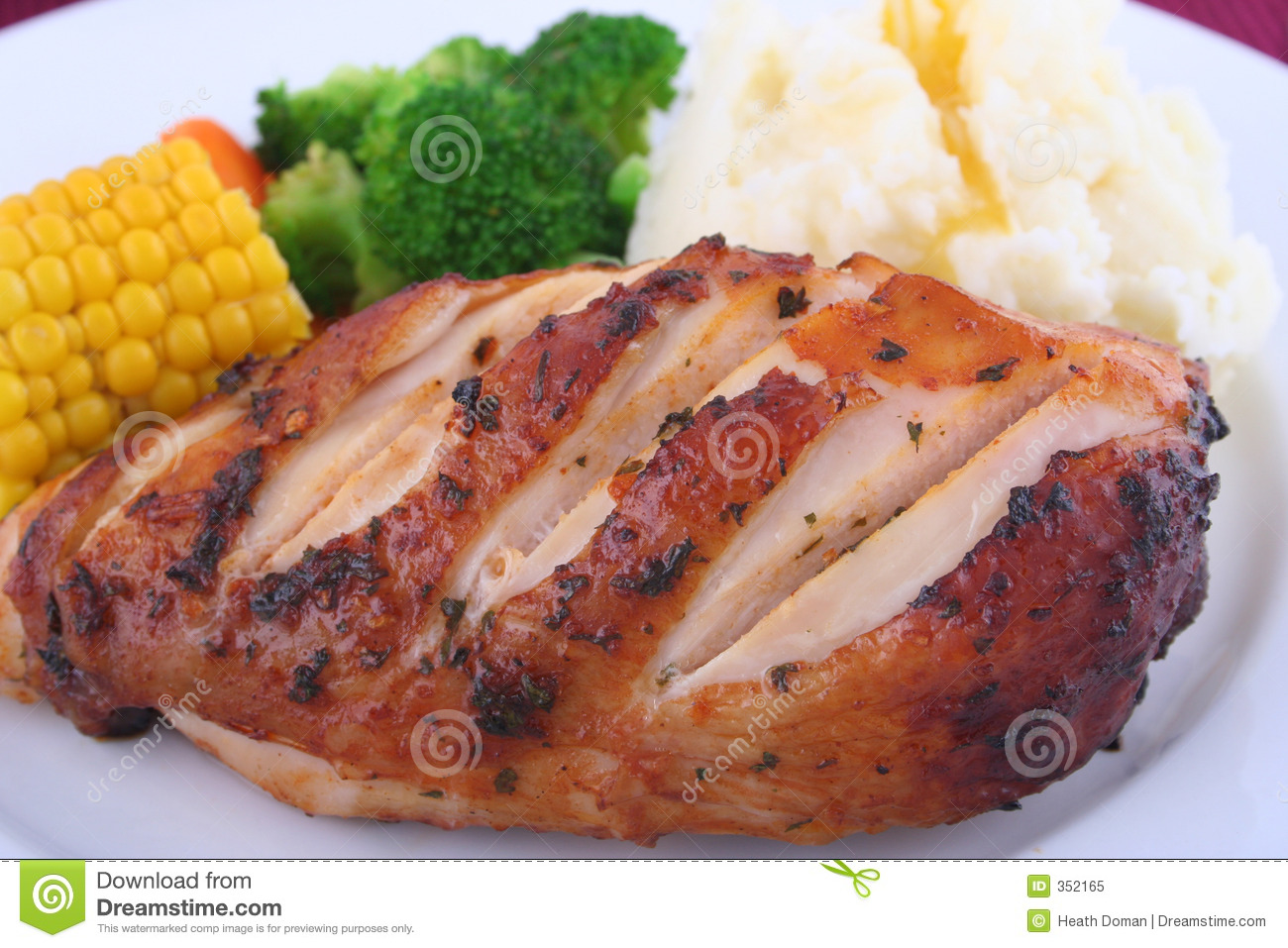 Chicken Dinner Royalty Free Stock Photo - Image: 352165