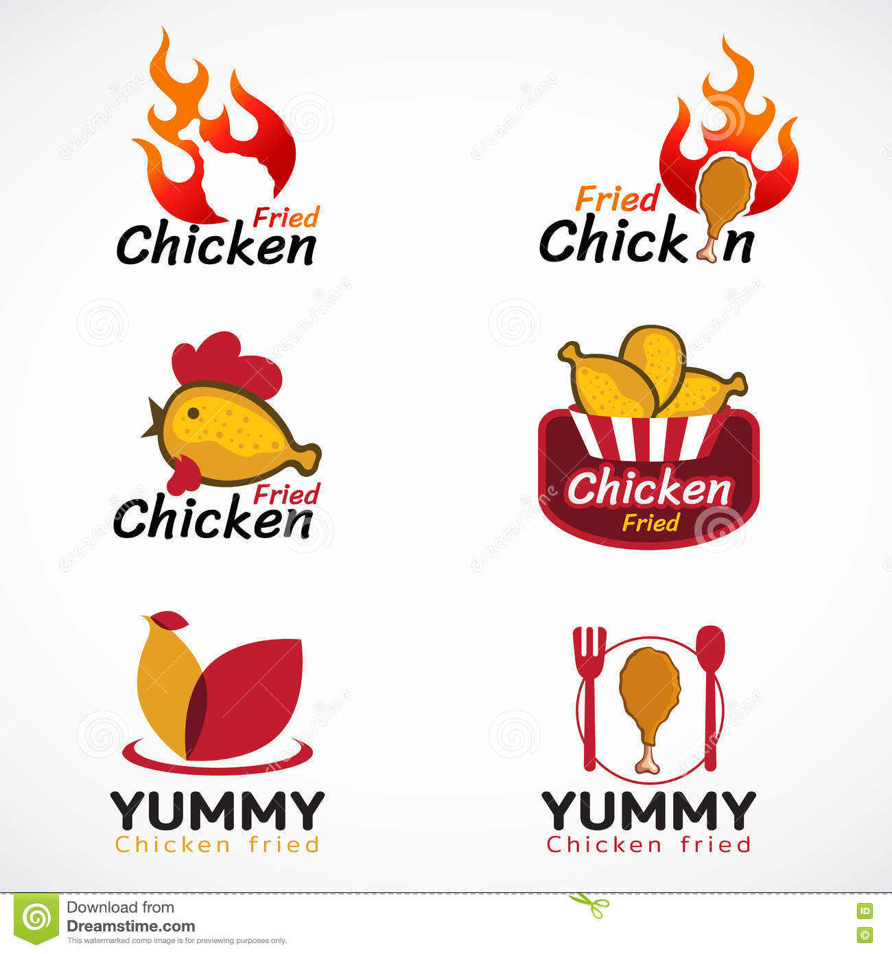 Fried Chicken Logos