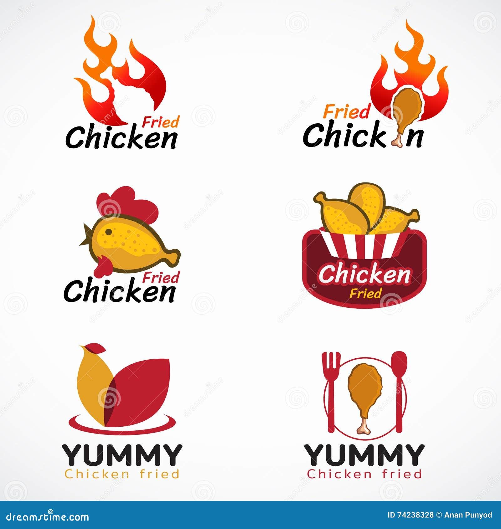 Fried chicken vector