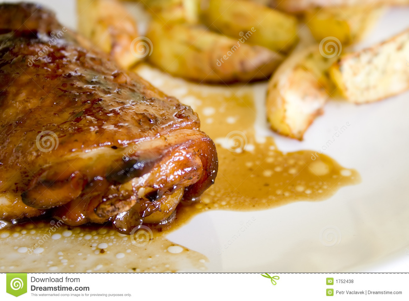 Chicken on honey with wine