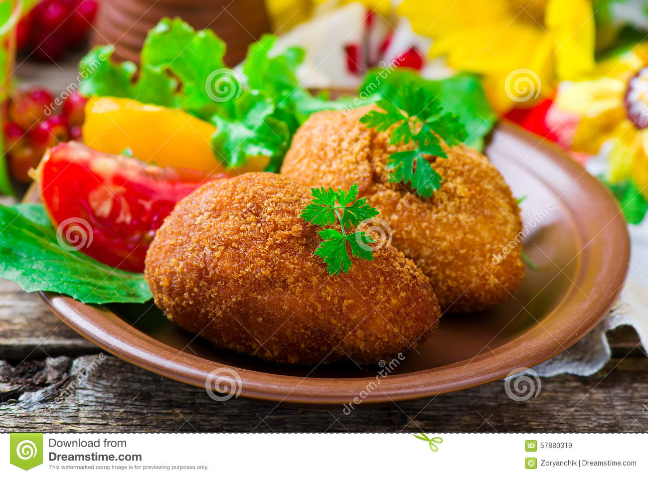 Chicken Kiev Stock Photo - Image: 57880319