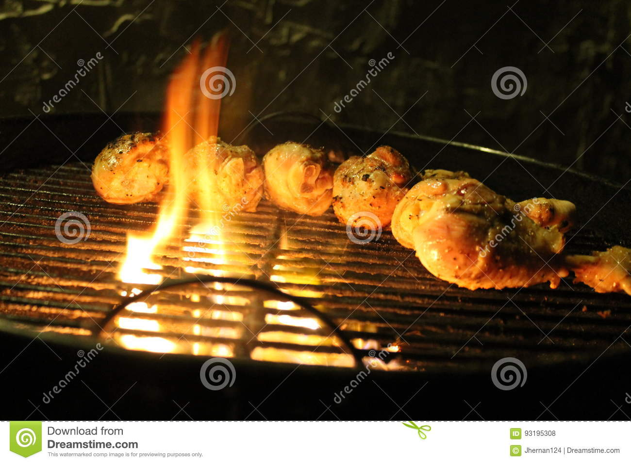 Chicken Legs On The Grill Stock Photo - Image: 93195308