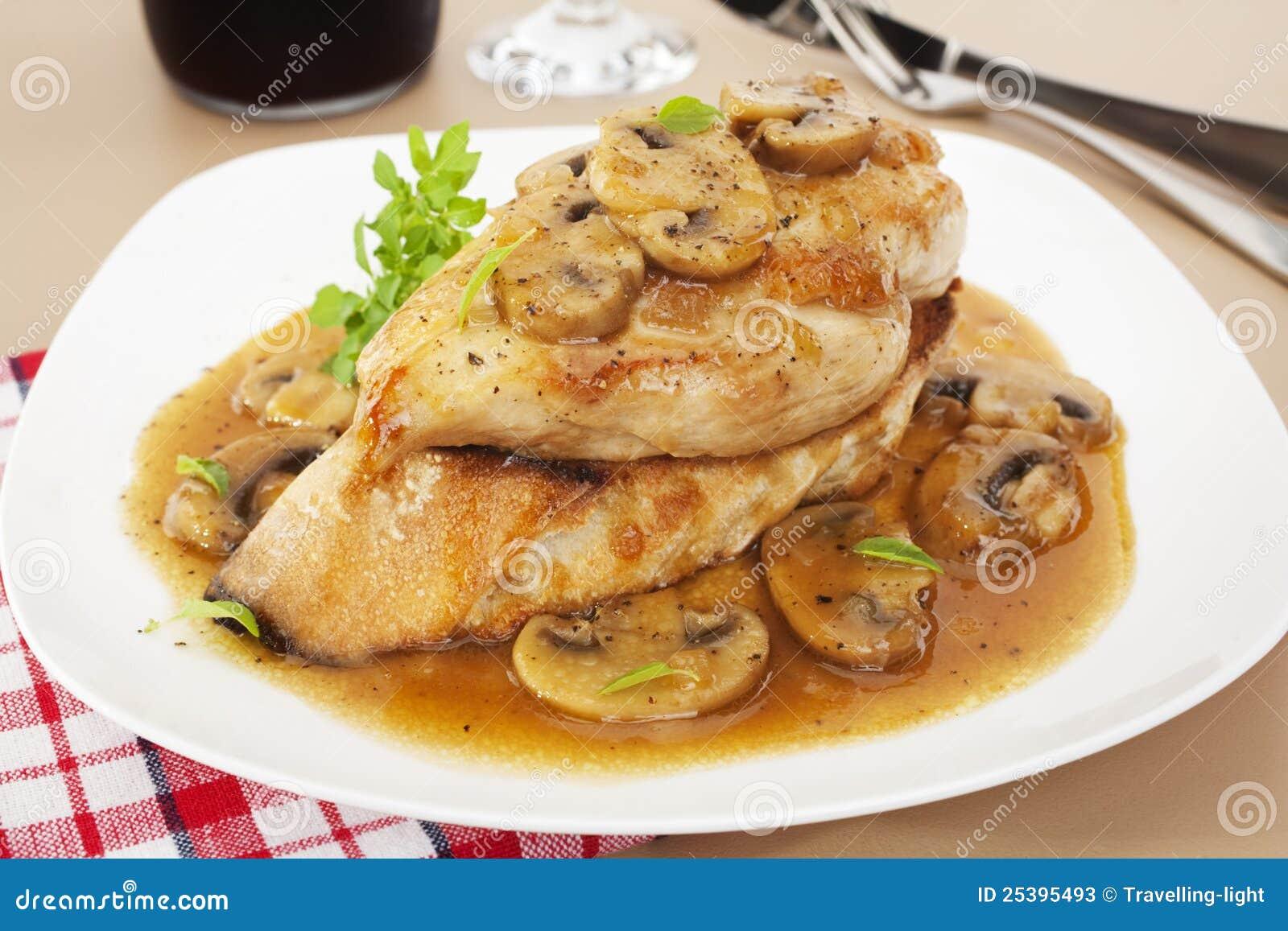 Chicken marsala italian food stock photos image 25395493 for American italian cuisine