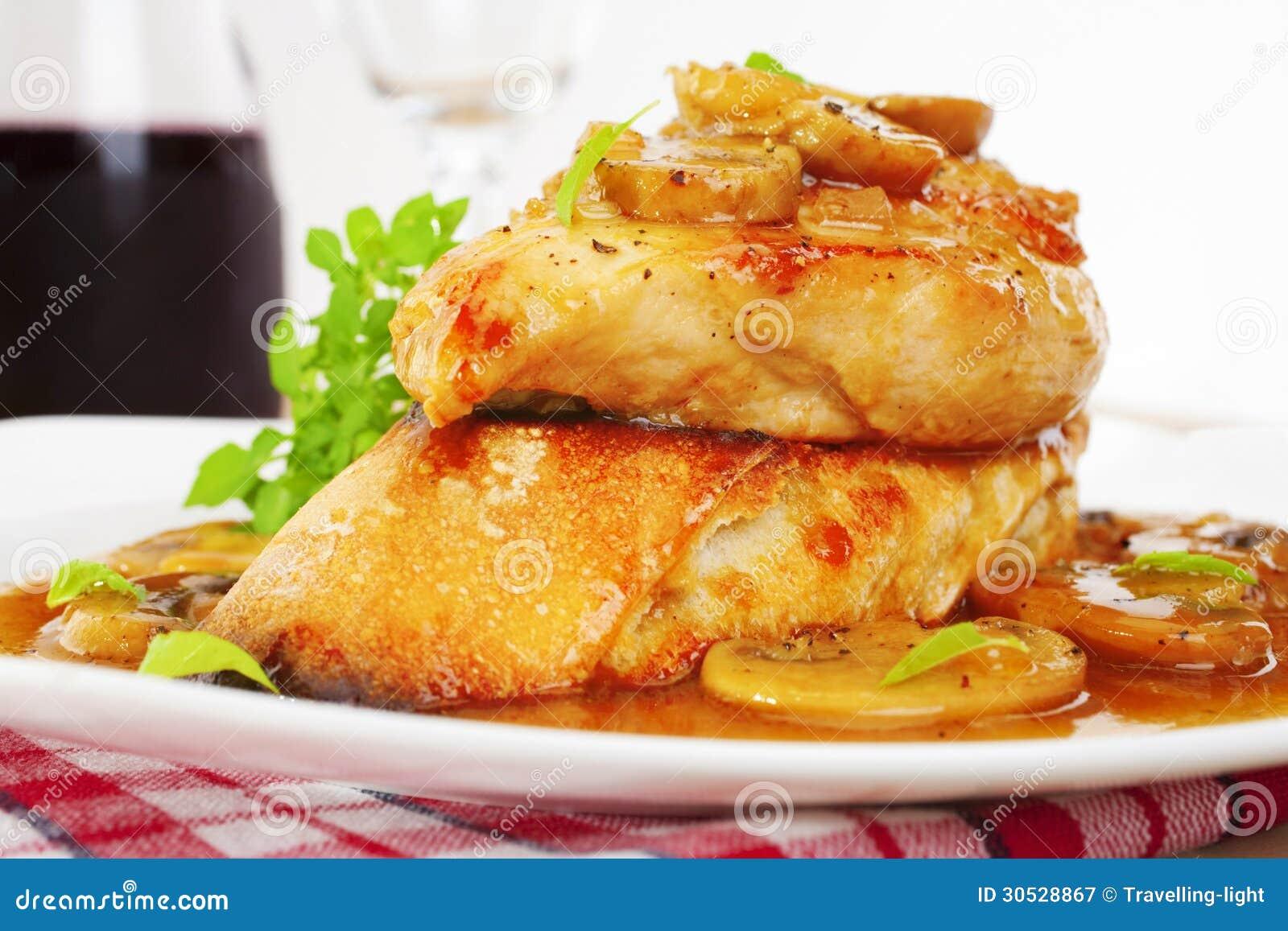 Chicken marsala italian food royalty free stock for American italian cuisine