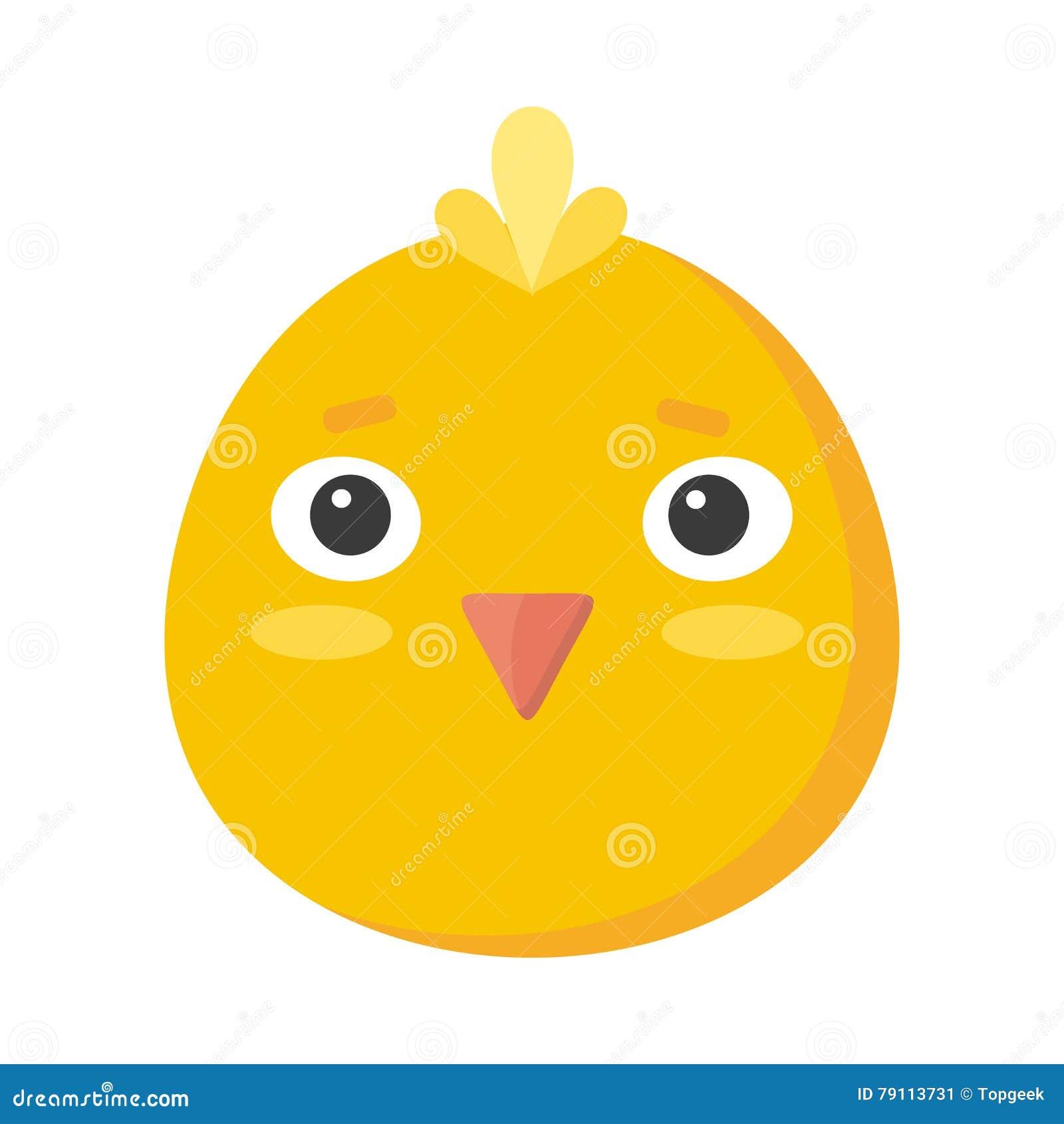 Chicken Mask On White Sticker For Child