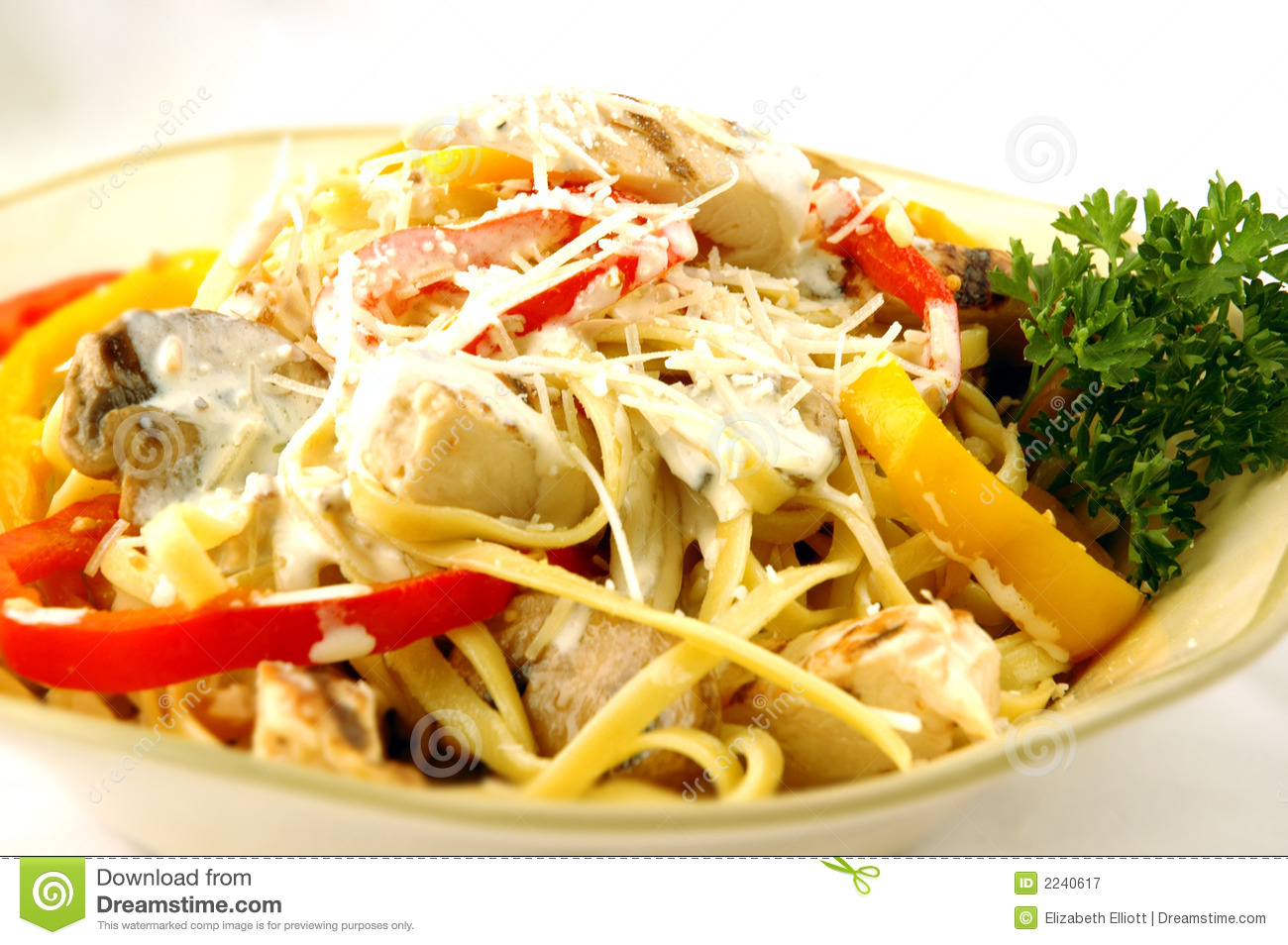 Chicken Pasta with Peppers