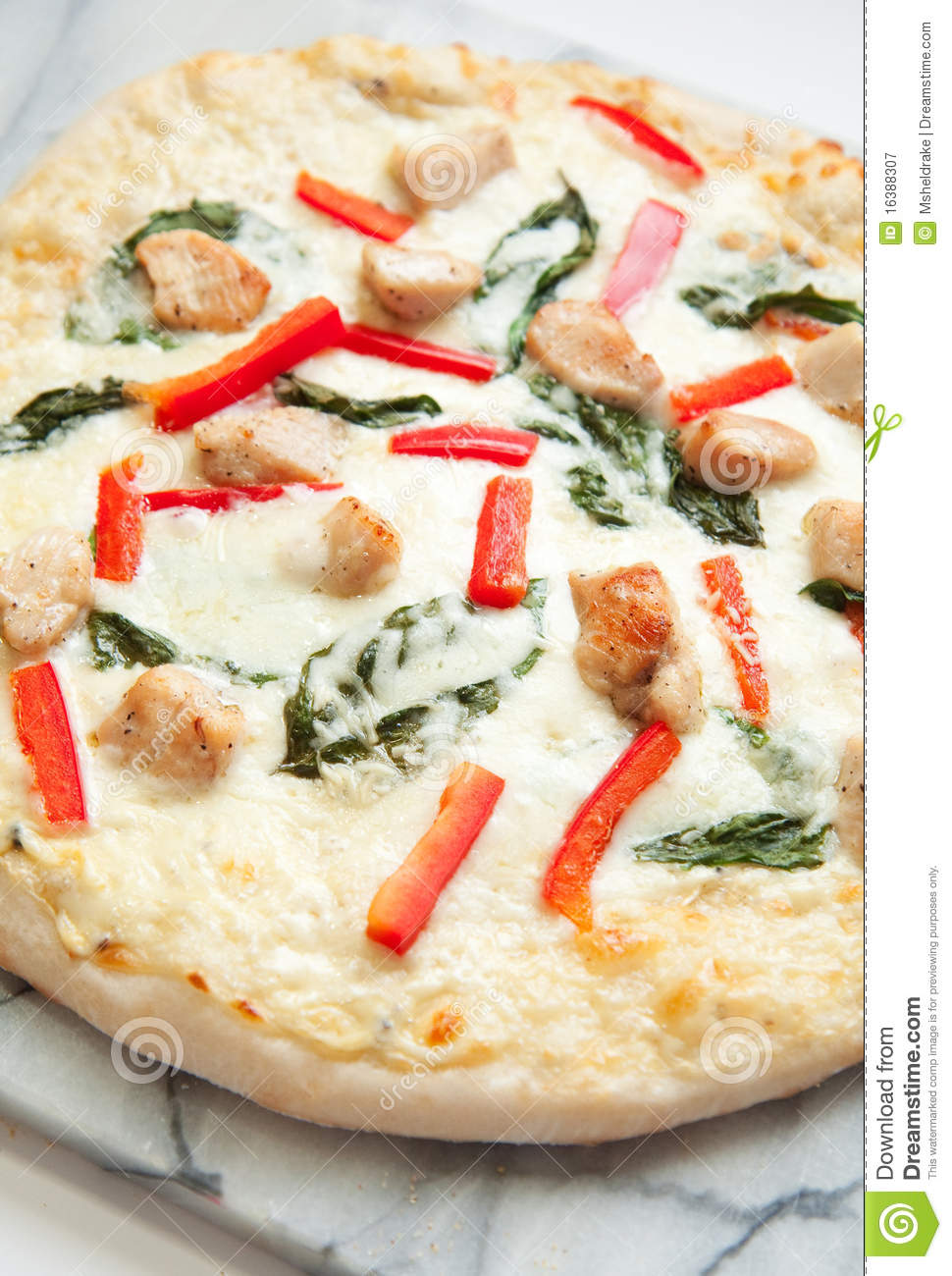 Chicken Pizza Royalty Free Stock Photography - Image: 16388307