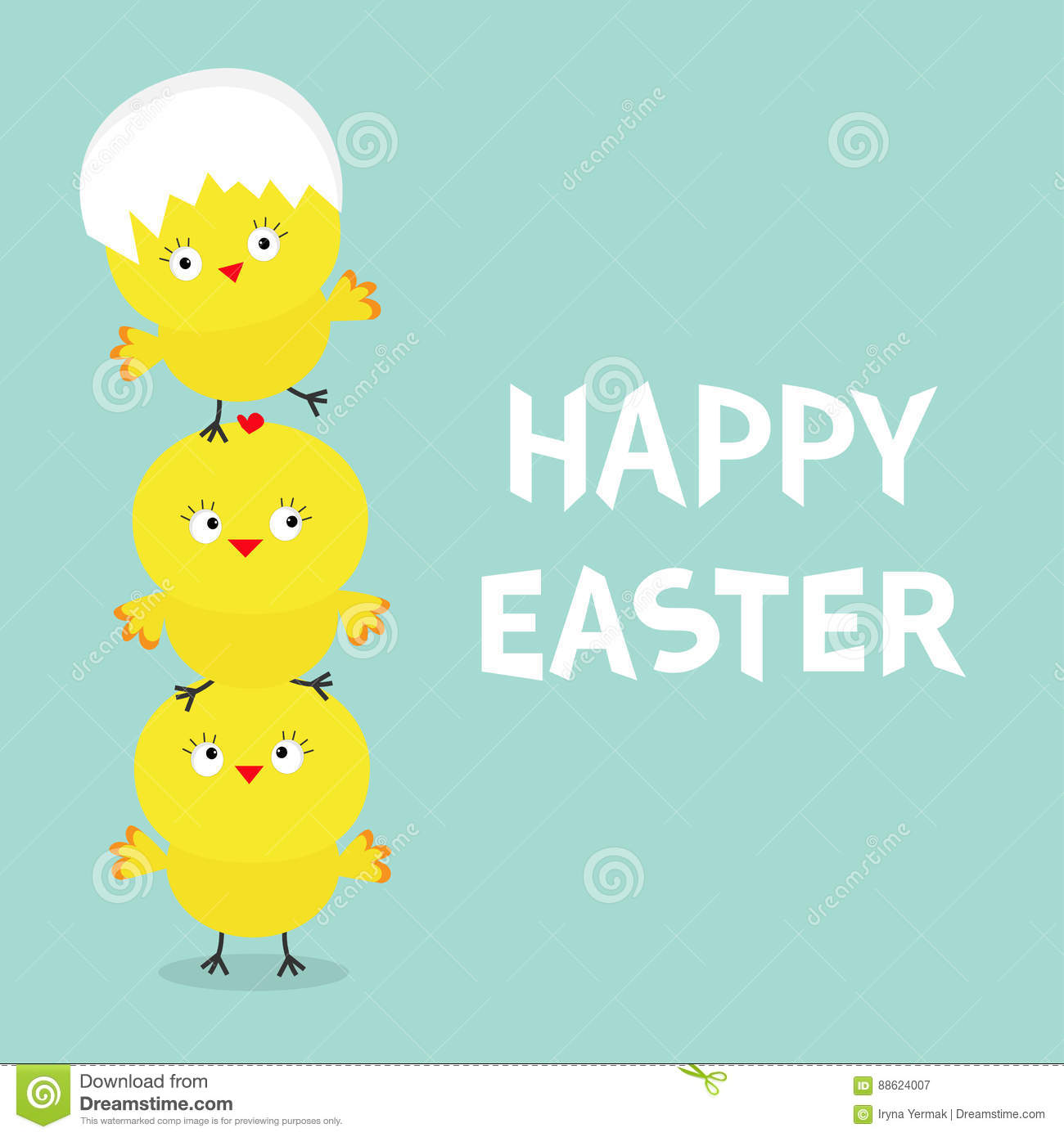 Chicken pyramid family set egg shell on head happy easter cute chicken pyramid family set egg shell on head happy easter cute cartoon funny character three baby chick bird friends greeting card blue background m4hsunfo