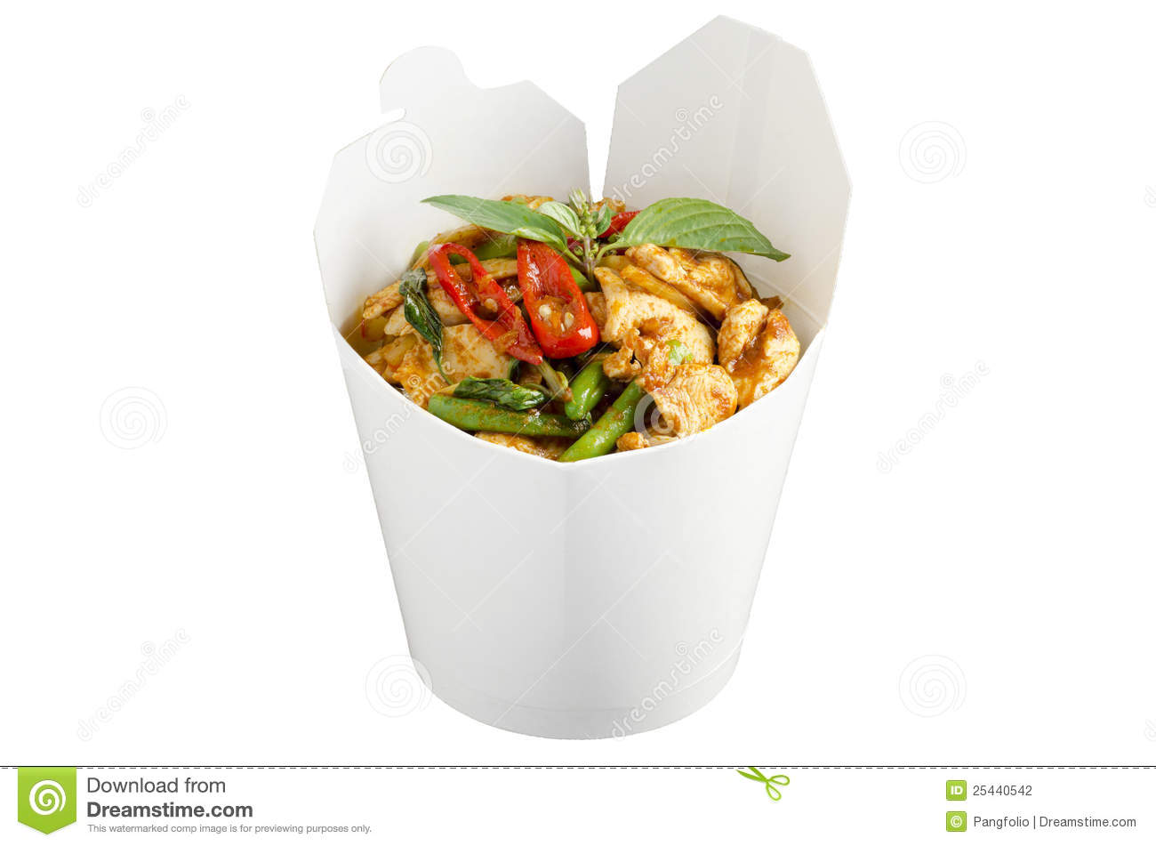 7c9248a7 Chicken red curry to go stock photo. Image of cuisine - 25440542