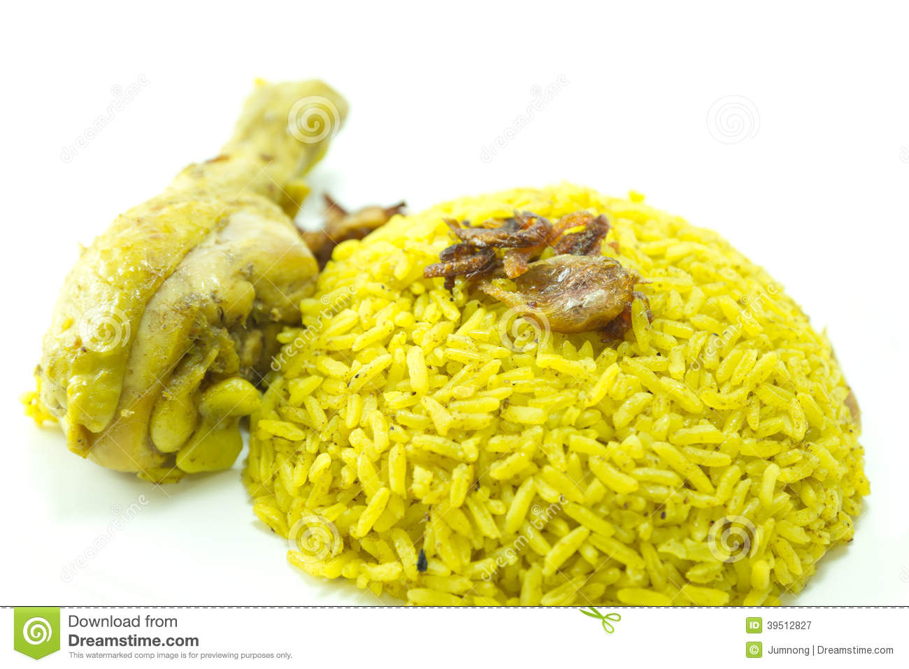 Chicken Rice Curry, indian food