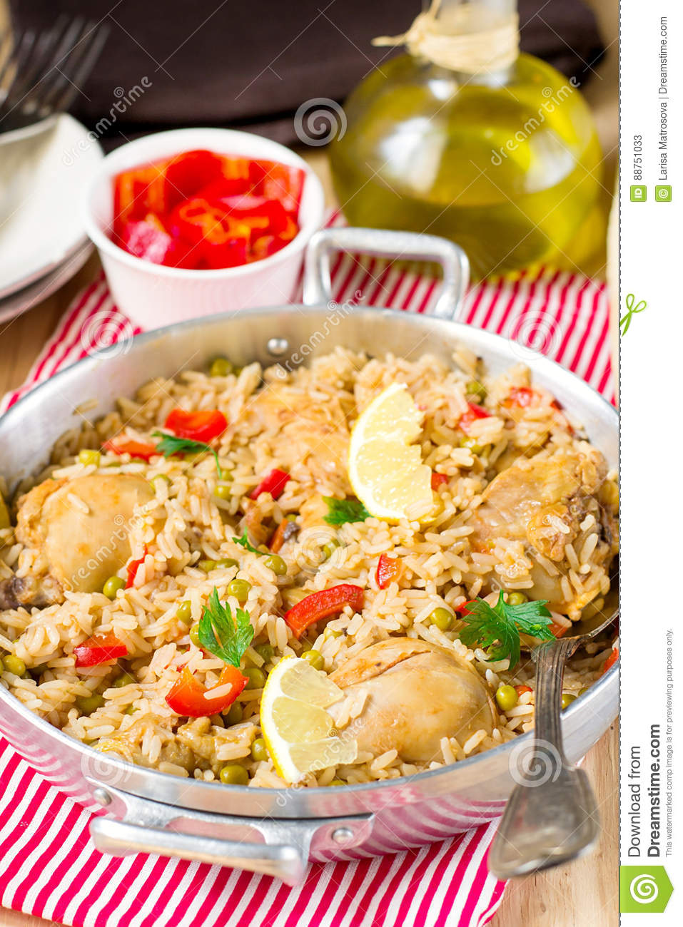 Chicken and rice with vegetables