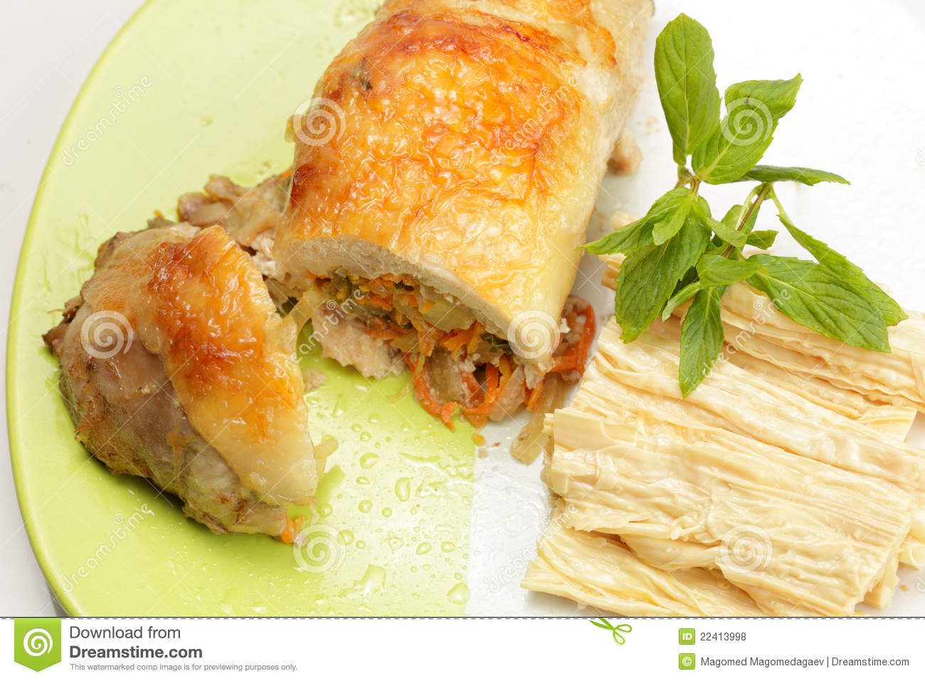 Chicken Rolls And Asparagus Royalty Free Stock Photos - Image ...