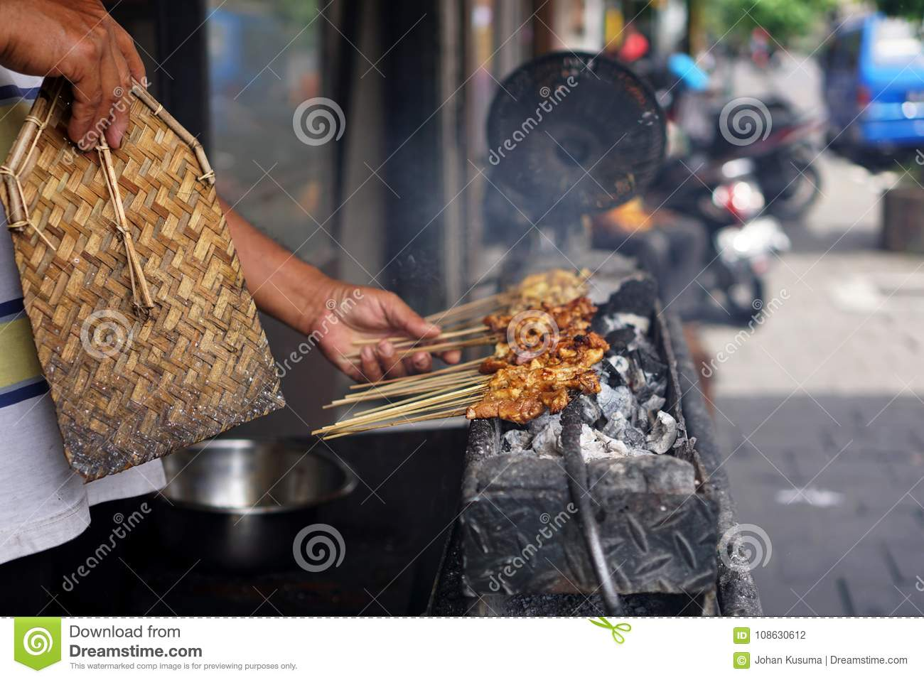 Chicken Satay from Java, Indonesia