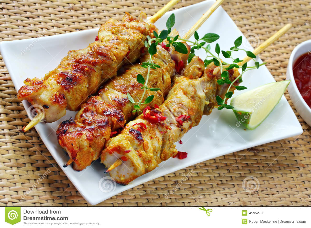 Chicken Skewers with Chili and Lime