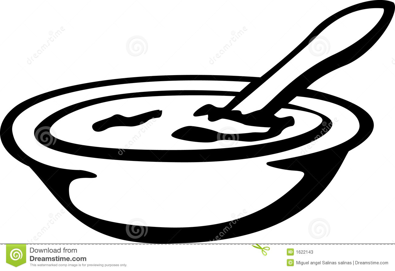 ... illustration of a chicken soup or oat meal or bowl of cereal or cream