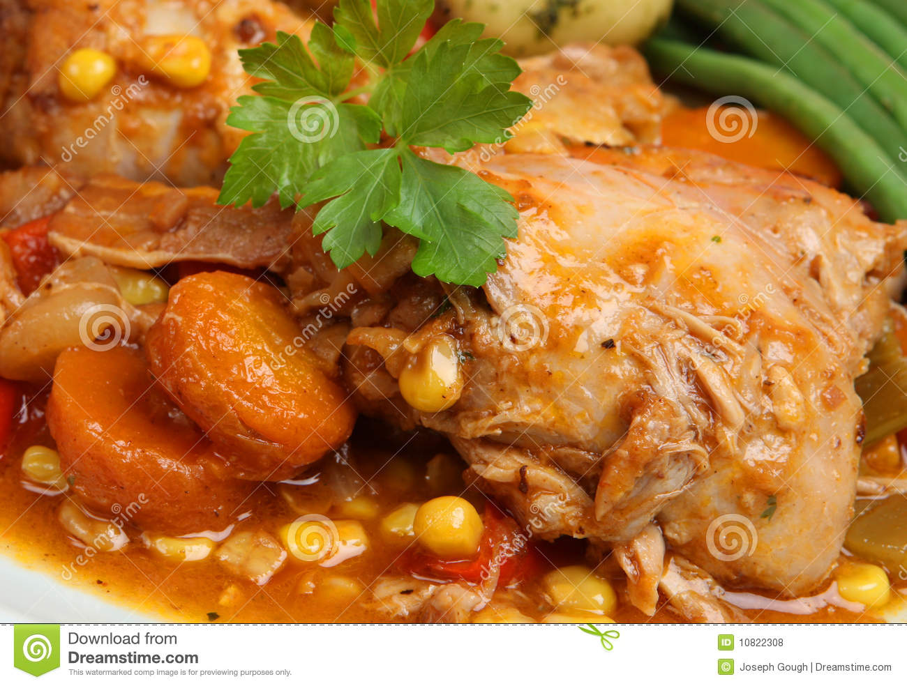 Chicken Stew With Vegetables Royalty Free Stock Photos - Image ...