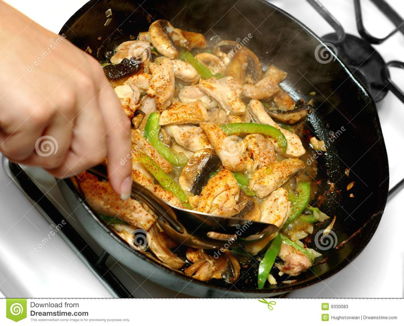 Chicken Stir Fry Cooking Stock Photos Image 9330083