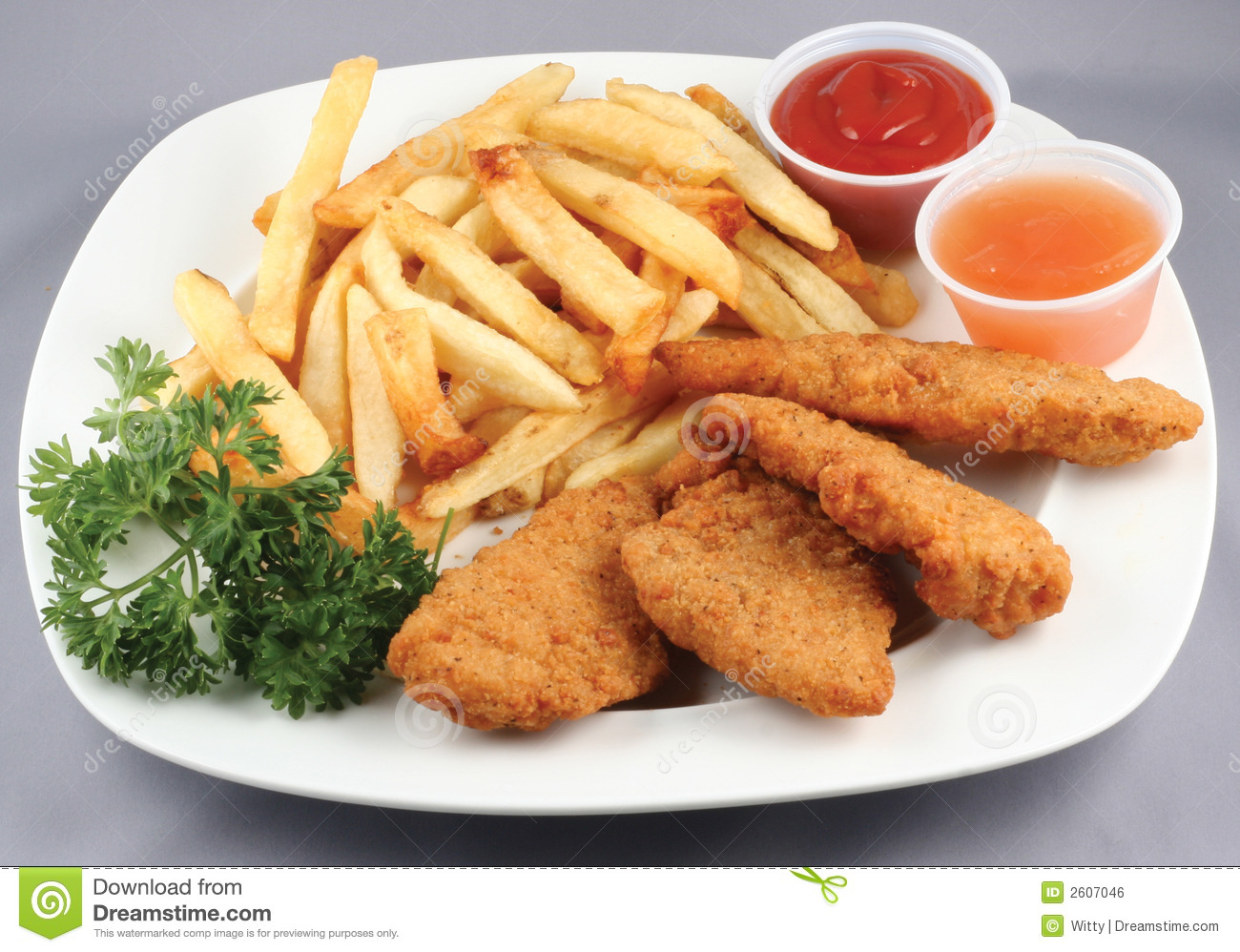 Chicken Strips And Fries Combo Royalty Free Stock Image - Image ...