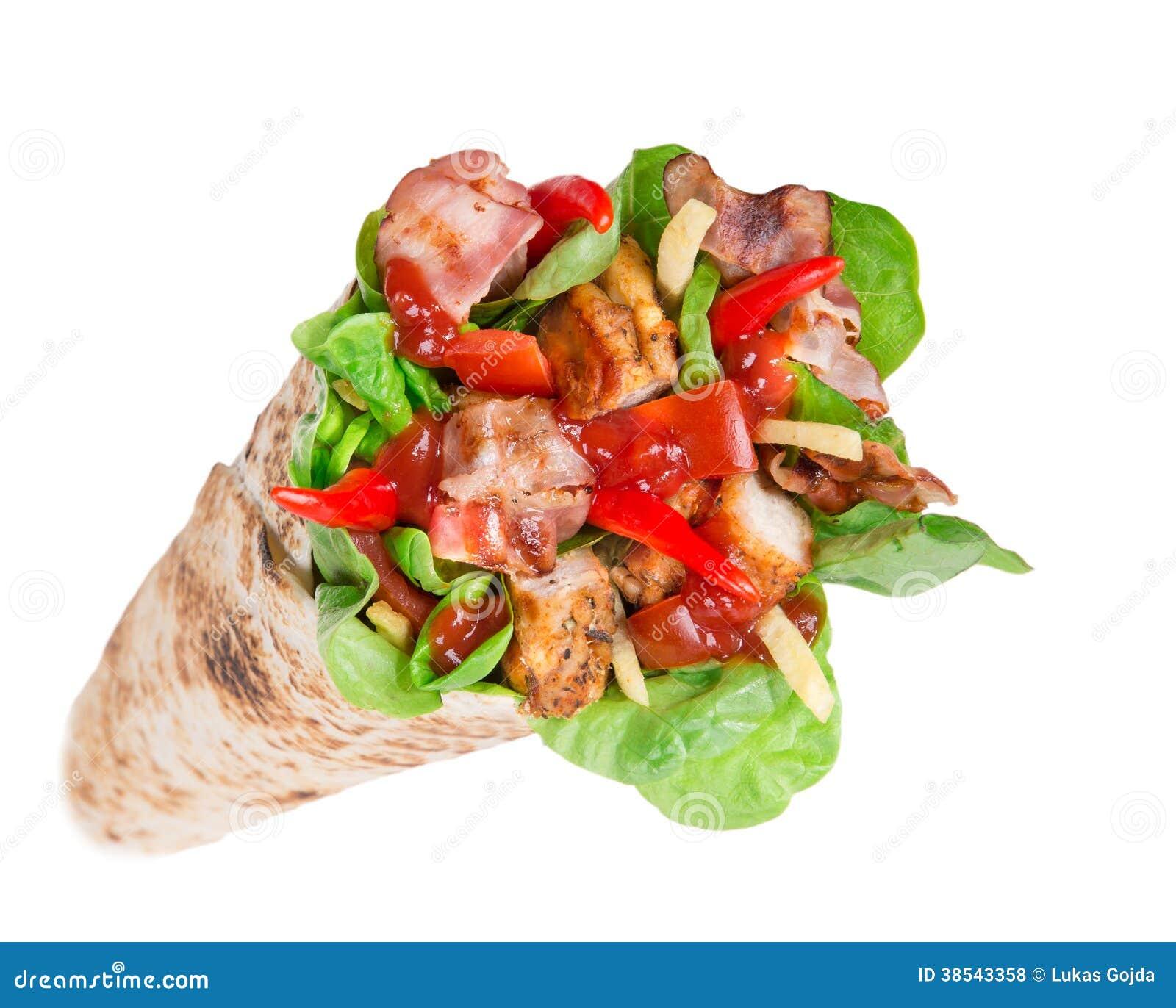 Fast Food Chicken Tortilla Wrap