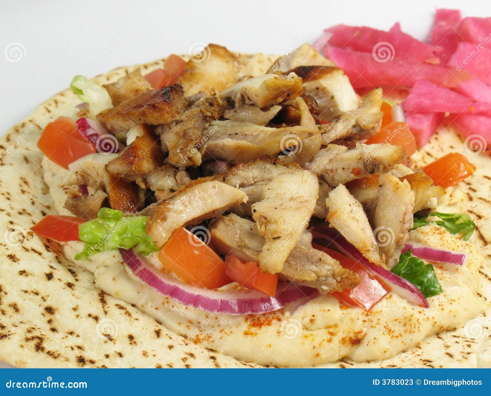 Chicken Tarna With Hummus