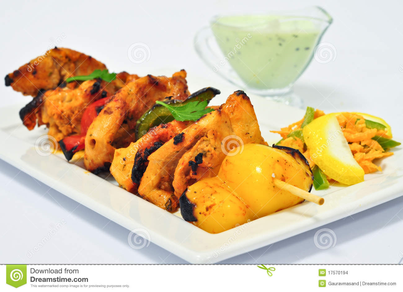 Download Chicken Tikka stock photo. Image of josh, daal, cucumber - 17570194