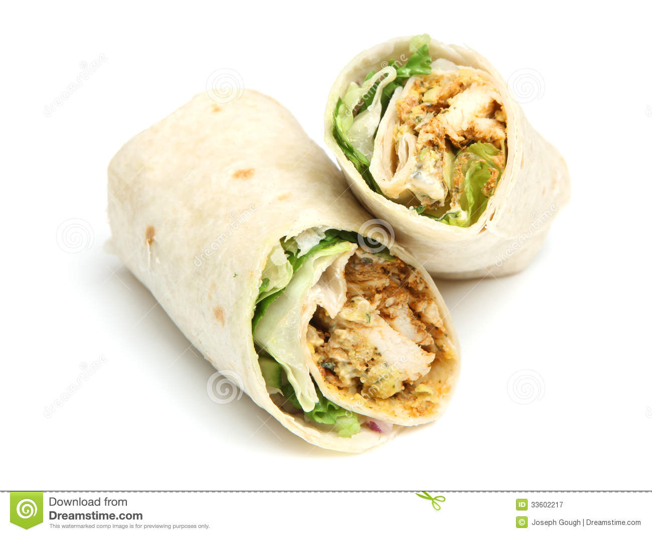 Chicken Tikka Wrap Sandwich Royalty Free Stock Photography - Image ...