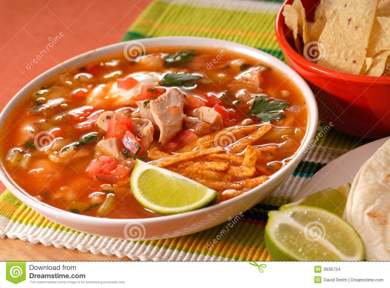 Chicken and tortilla soup