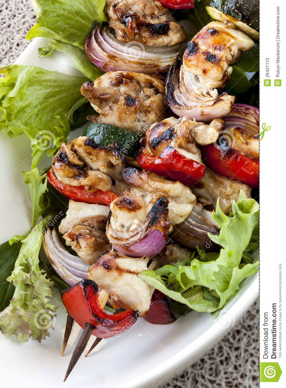 how to make chicken and vegetable kebabs