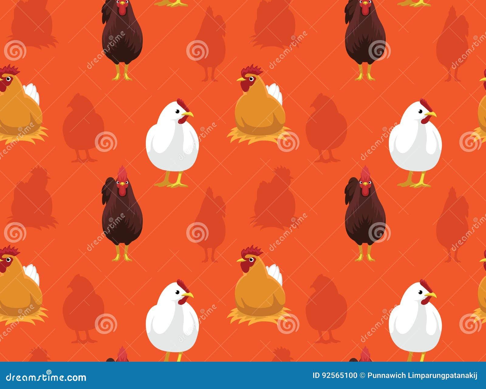 Chicken Wallpaper 2 Stock Vector Illustration Of Cartoon