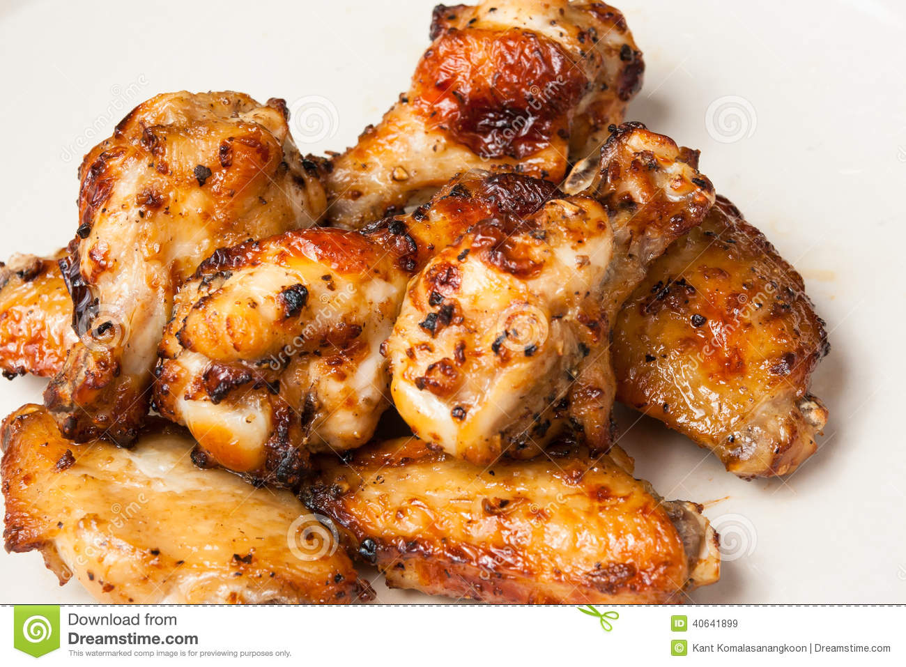 Chicken wing grill