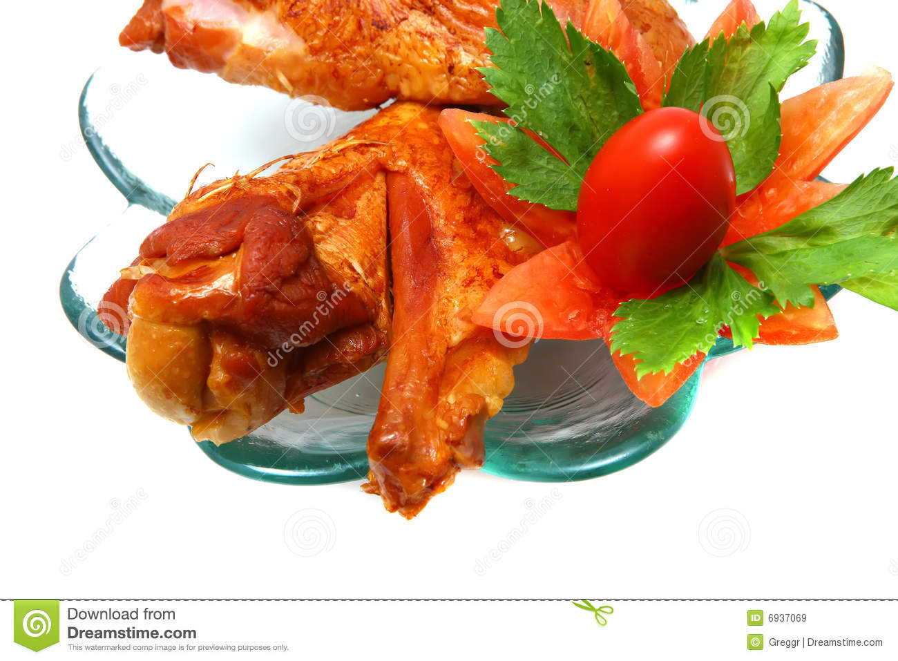 Chicken Wing On Transparent Dish Royalty Free Stock Images - Image ...