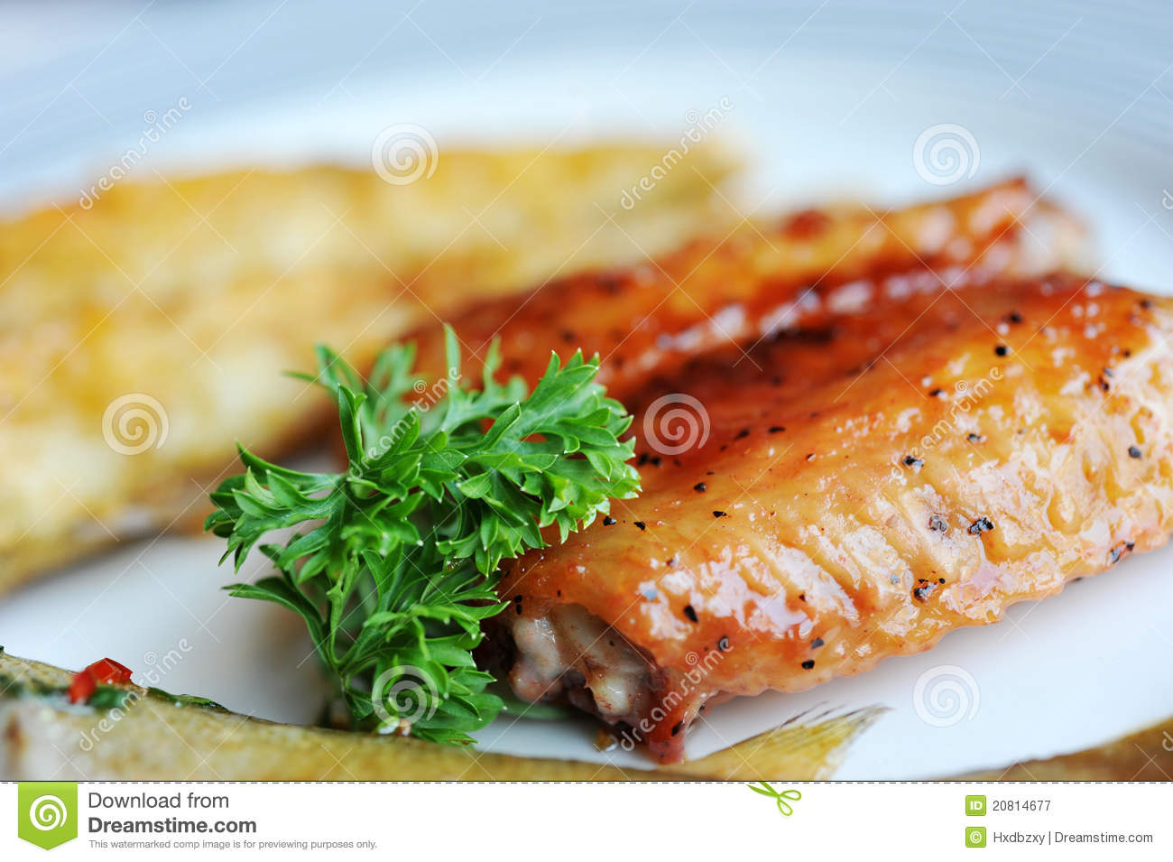 Chicken wings royalty free stock photography image 20814677 for Wings and fish
