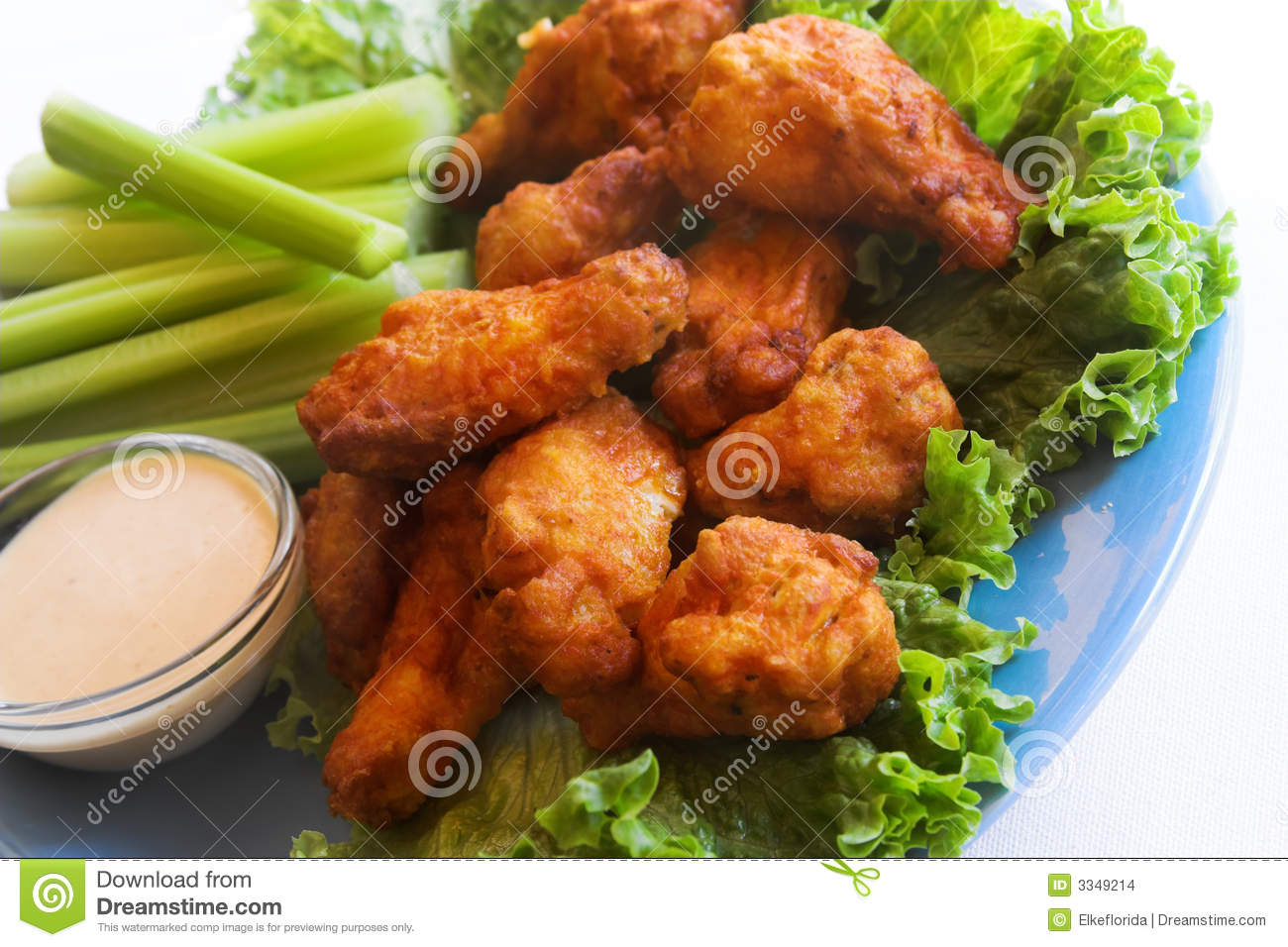 Chicken Wings And Dip Stock Images - Image: 3349214