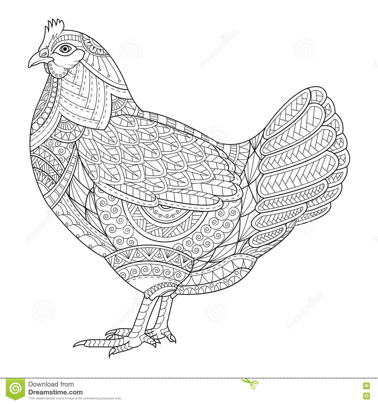 Chinese Rooster Coloring Pages For Adults Chinese Best