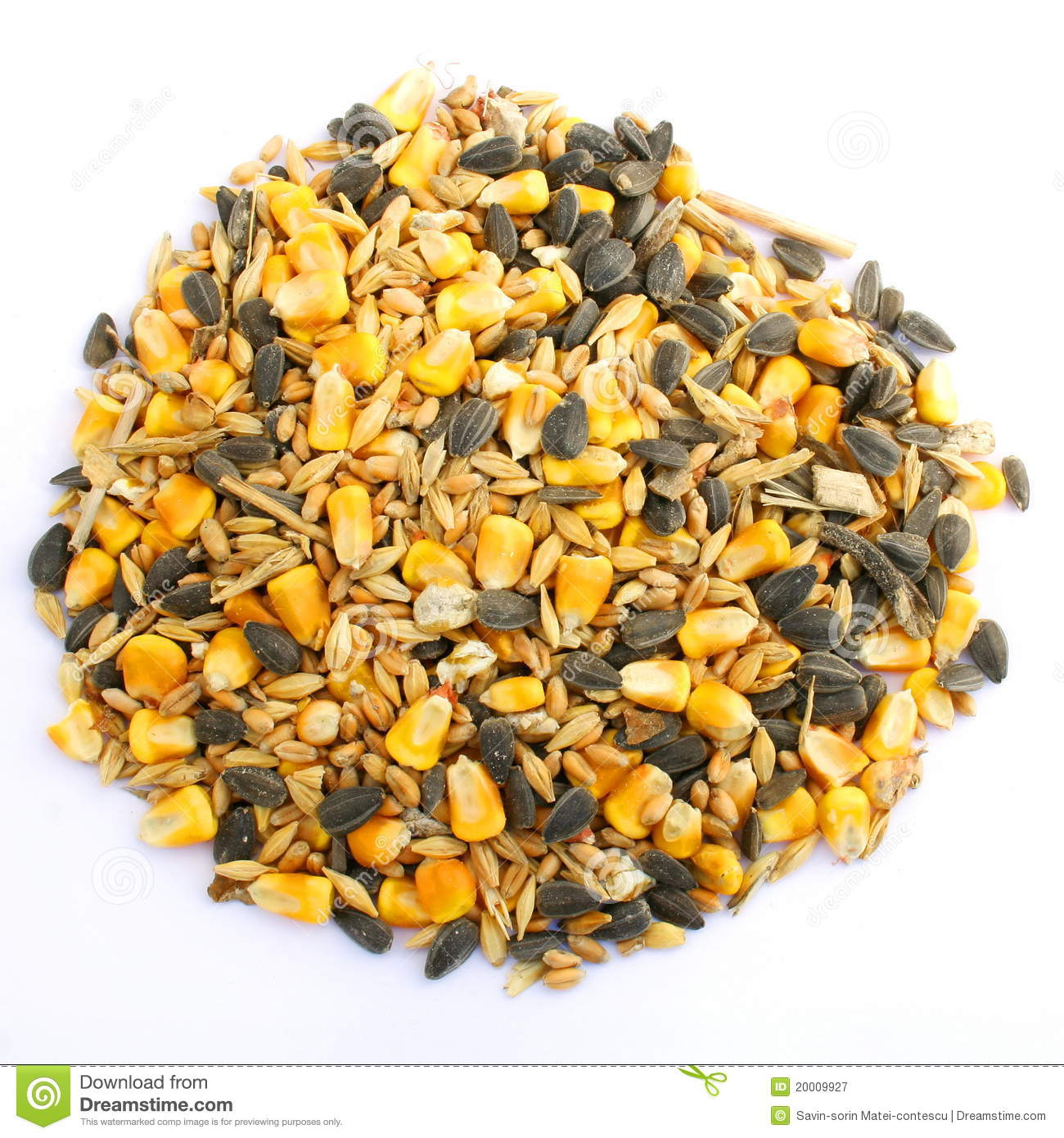 Chickens Feed Seed Mixture stock image. Image of bird ...