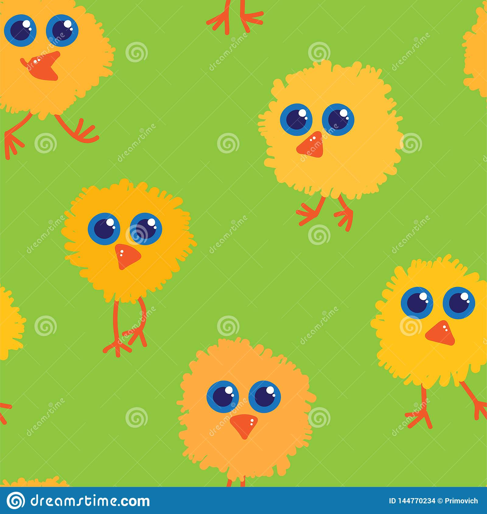 Chickens seamless pattern vector illustration