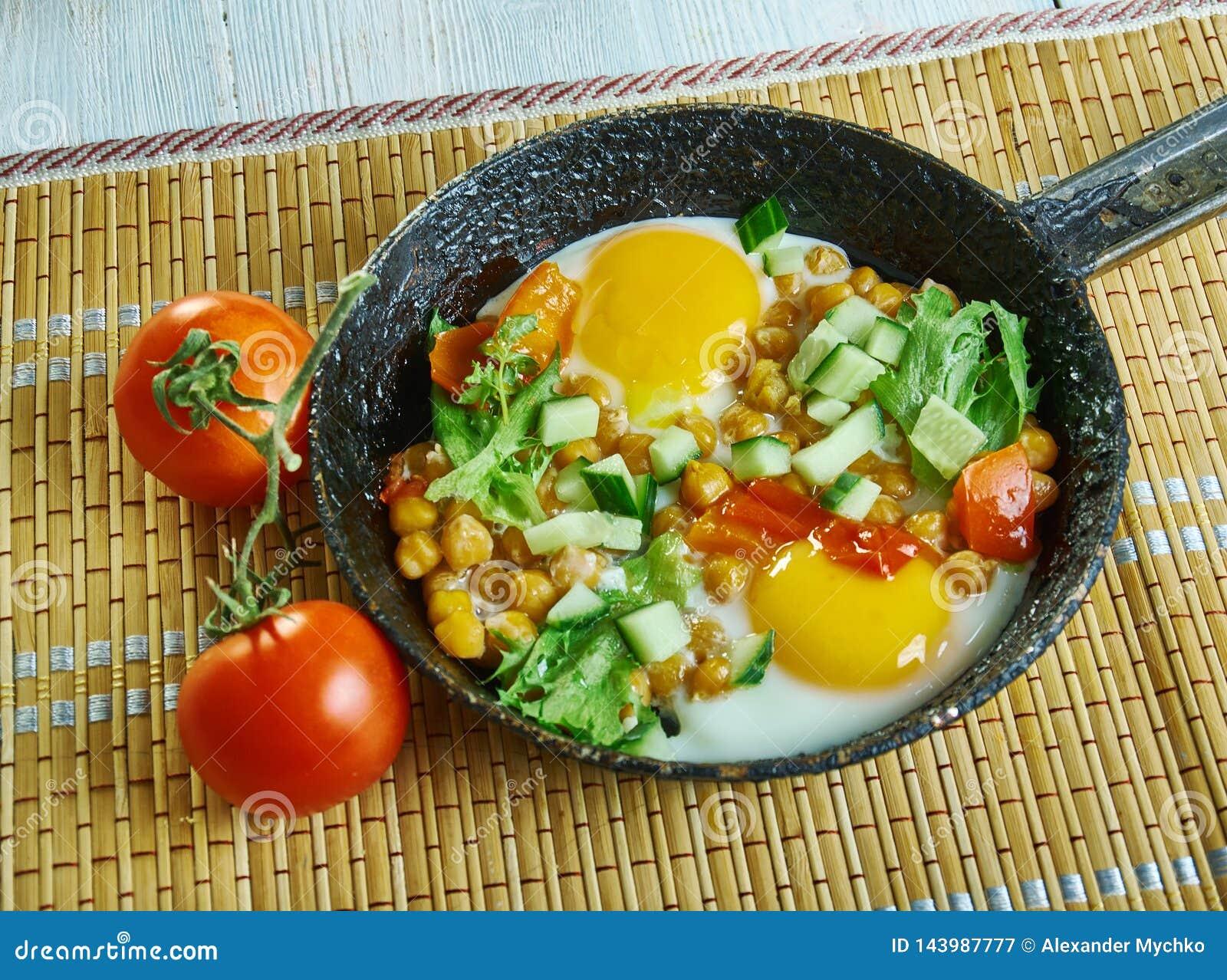Chickpea śniadania Hash