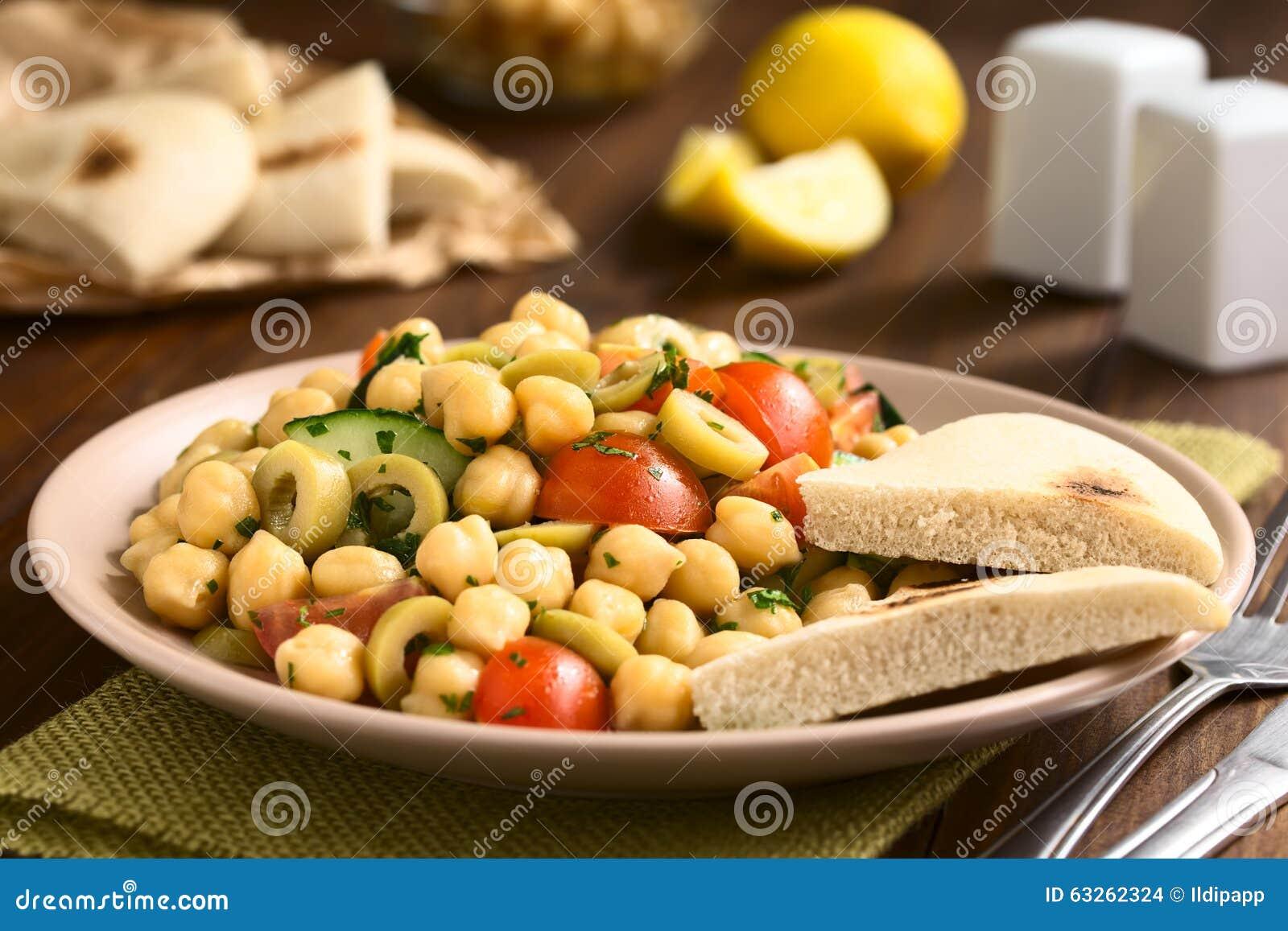 Chickpea Salad Stock Photo - Image: 63262324