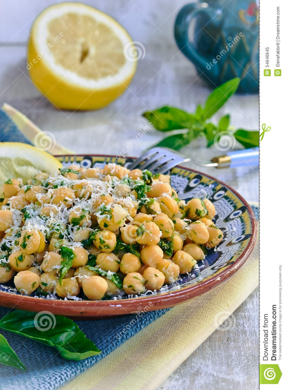 Chickpea Salad Stock Photo - Image: 54646645