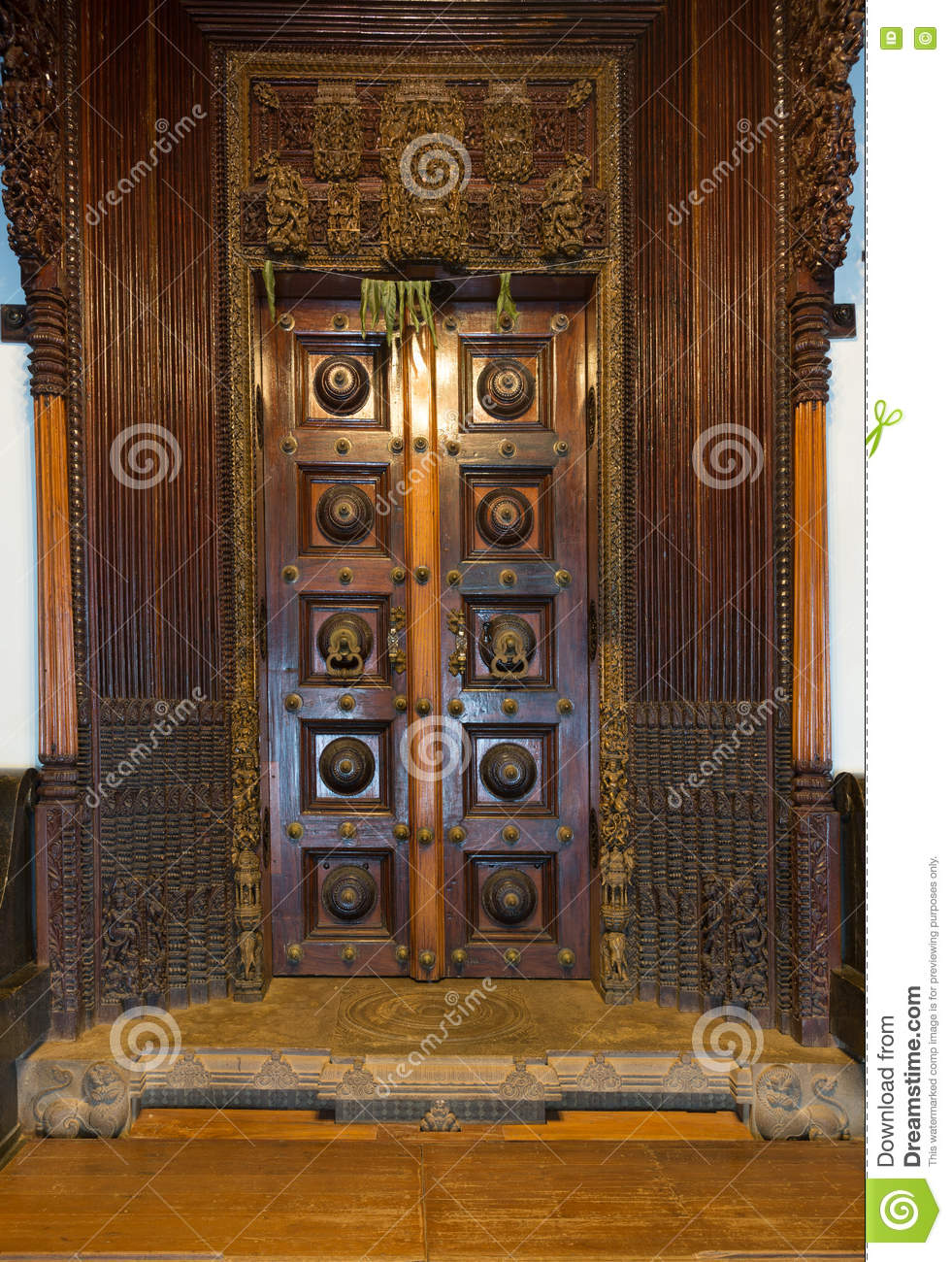 Download Chidambara Palace, Massive Wooden Antique Door. Stock Photo -  Image of spiritual, - Chidambara Palace, Massive Wooden Antique Door. Stock Photo - Image