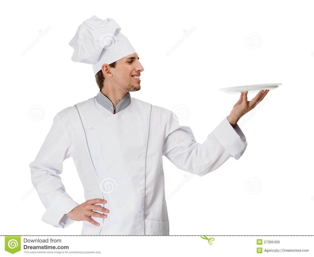 chief cook handing a white plate stock image image of horizontal