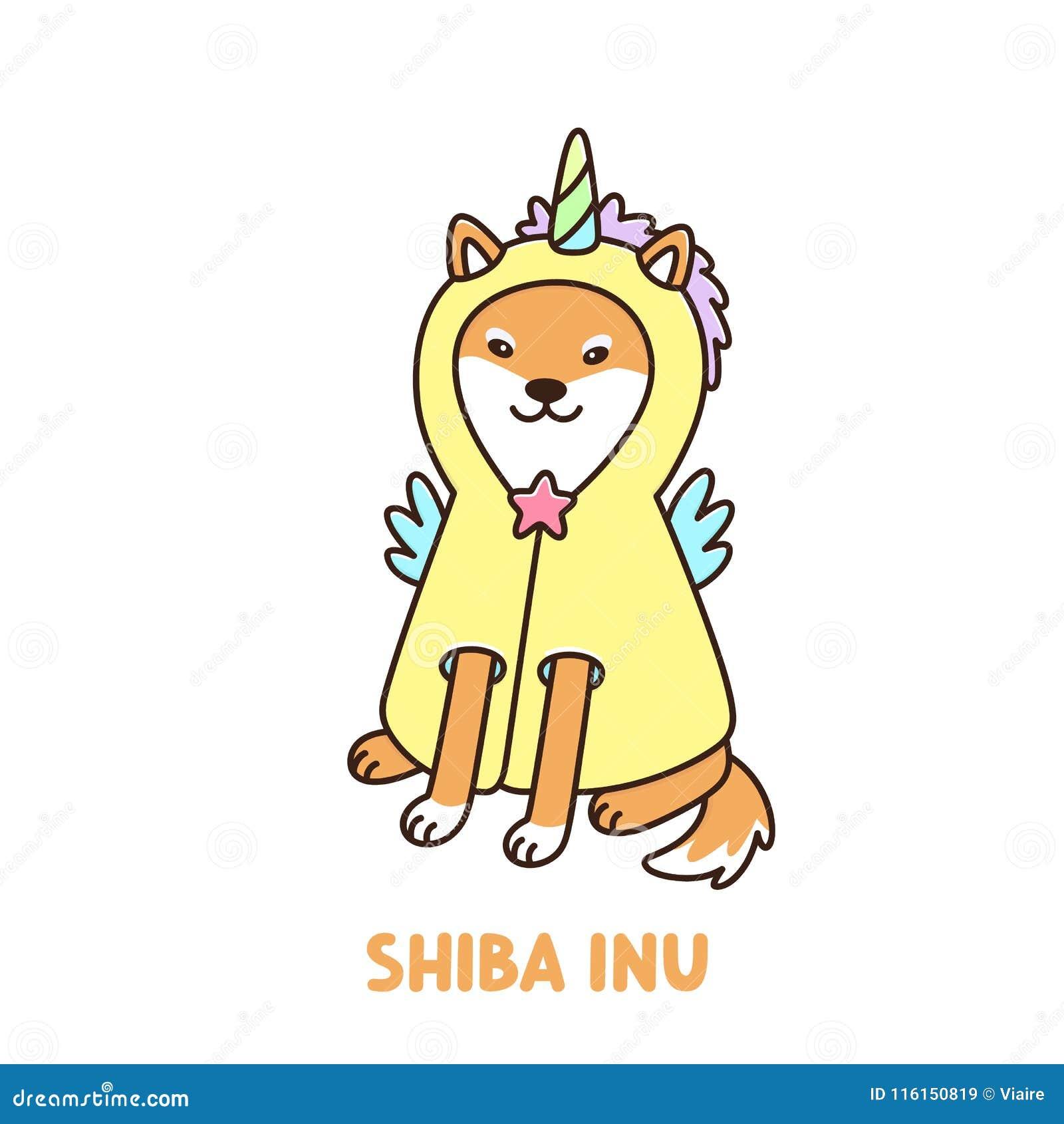 Chien Mignon De Kawaii De Race D Inu De Shiba Dans Un Costume Ou Un