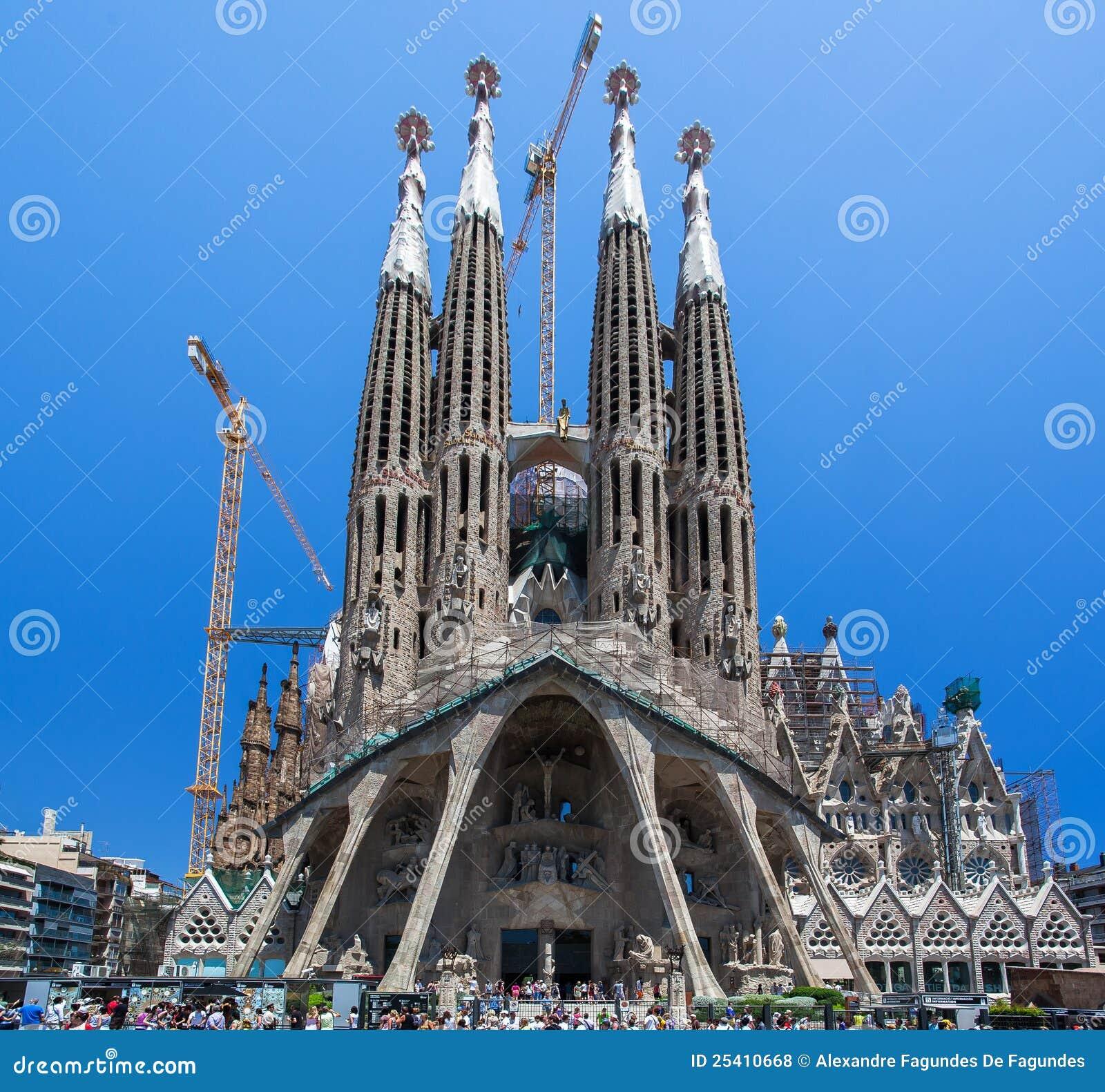 Chiesa barcellona spagna di sagrada famila della la for Spagna barcellona