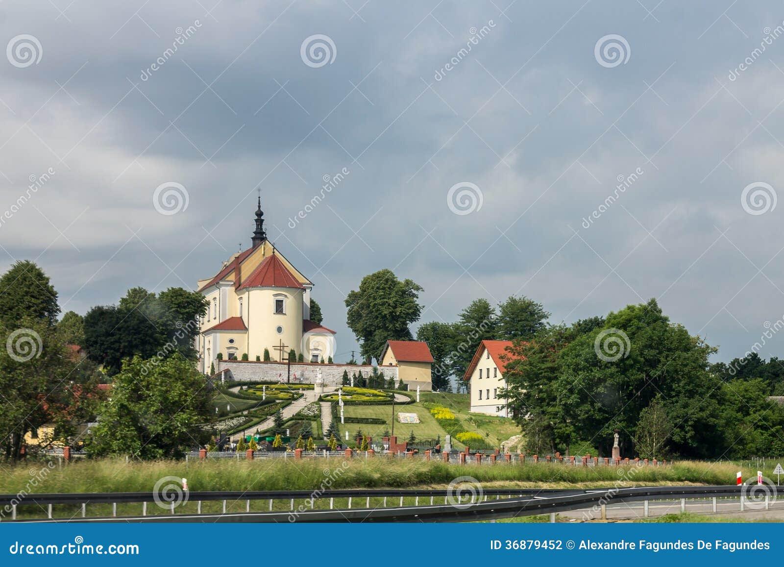 Download Chiesa a Cracovia Polonia fotografia stock. Immagine di europa - 36879452